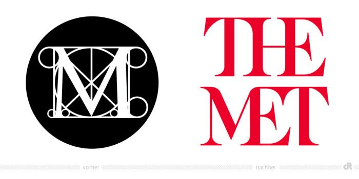 Metropolitan Museum of Art Logo – vorher und nachher