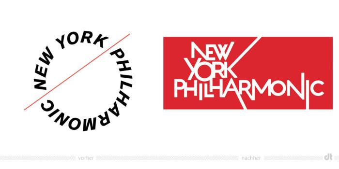 New York Philharmonic Logo – vorher und nachher