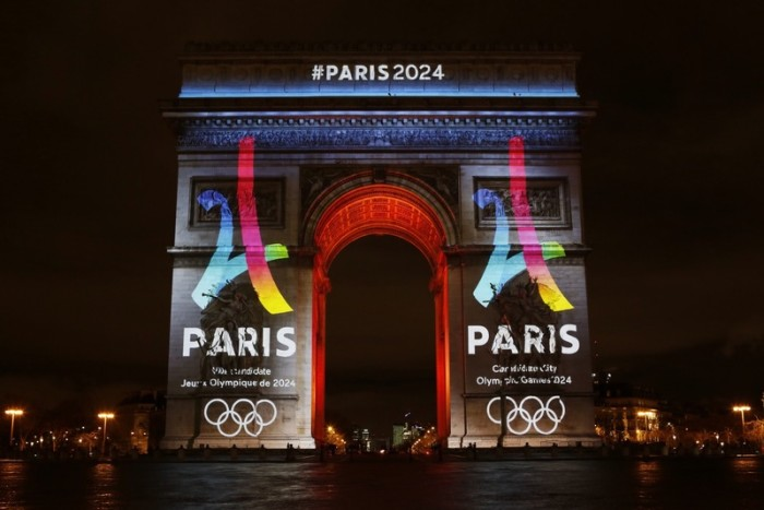 Paris 2024 Logo Arc de Triomphe
