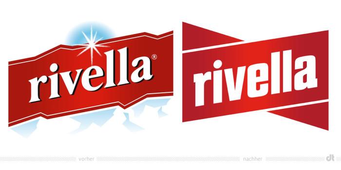 Rivella Logo – vorher und nachher