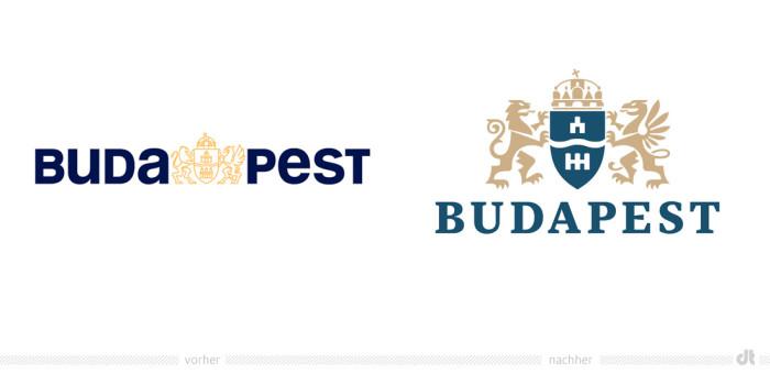 Budapest Logo – vorher und nachher