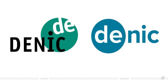 Denic Logo – vorher und nachher