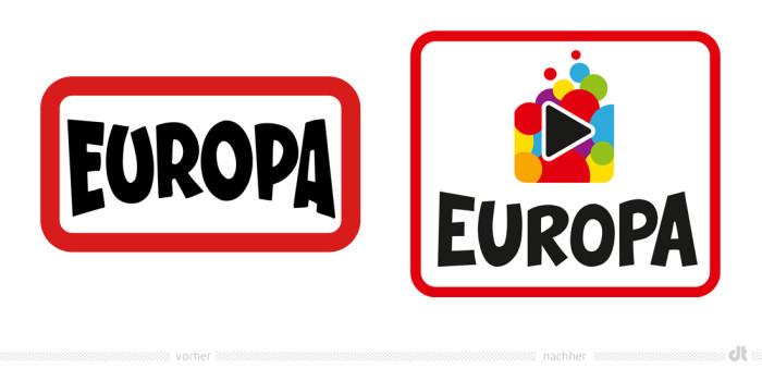 Europa Hörspiele Logo – vorher und nachher