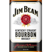 Jim Beam White Bourbon Whiskey Label