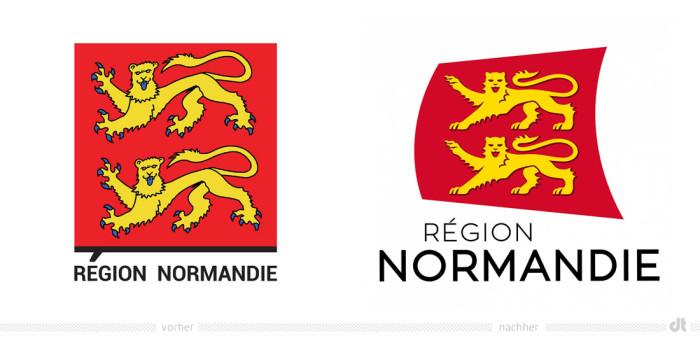 Region Normandie Logo – vorher und nachher