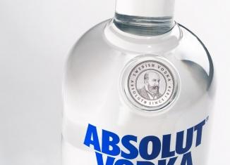 Absolut Vodka Redesign Closeup