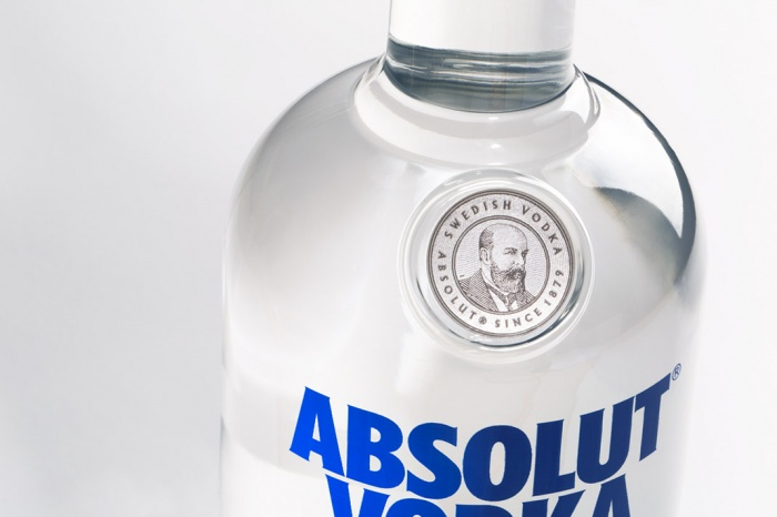 Absolut Vodka Redesign Closeup