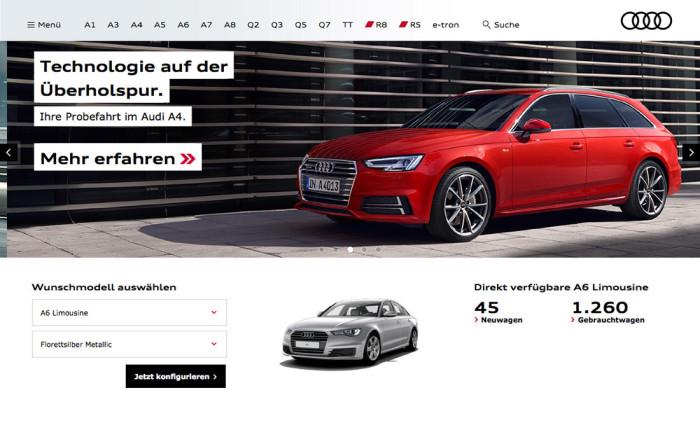 Audi Deutschland Website