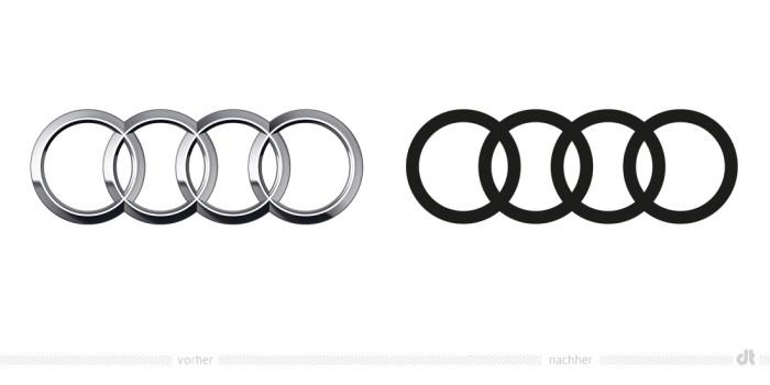 Audi-Ringe – vorher und nachher