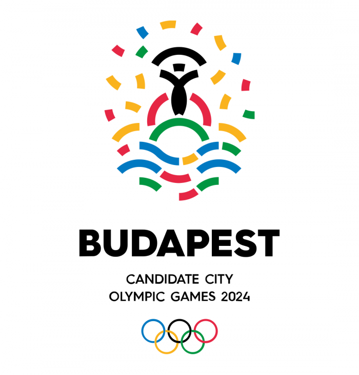 Budapest Candidate City Bid Logo for the 2024 Summer Olympics