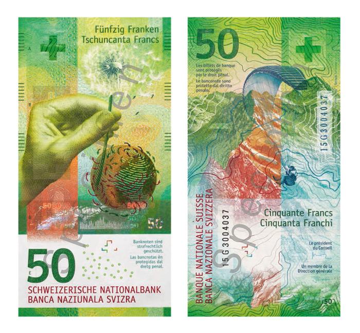 Schweizer Franken 50er-Note