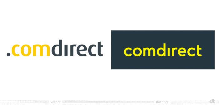Comdirect Logo – vorher und nachher