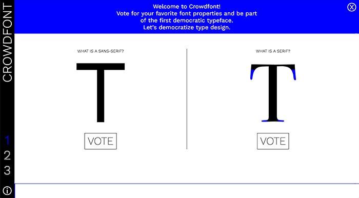 Crowdfont, die erste demokratisch gewählte Schrift