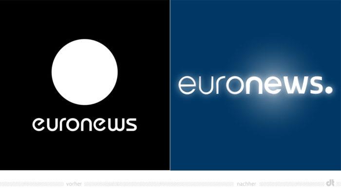 Euronews Logo – vorher und nachher