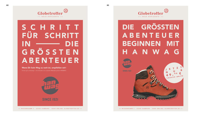 Globetrotter Corporate Design Anzeigen