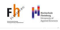 Hochschule Flensburg Logo – vorher und nachher