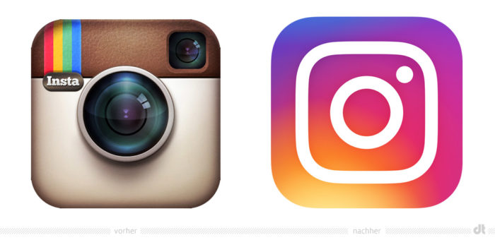Instagram Icon– vorher und nachher