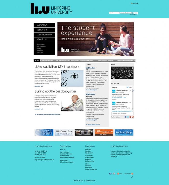 Linköping Universität – Website