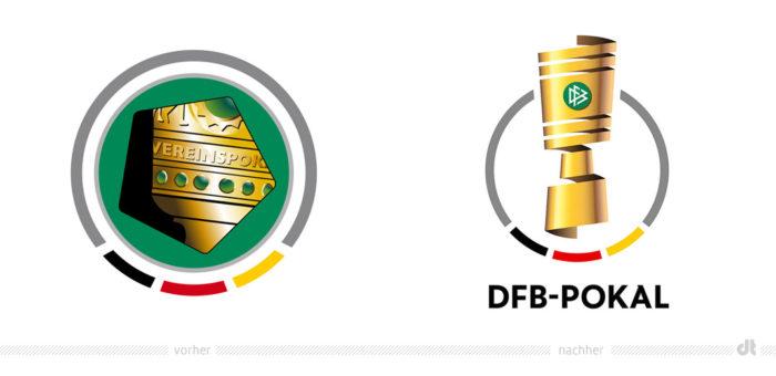 DFB-Pokal Logo – vorher und nachher