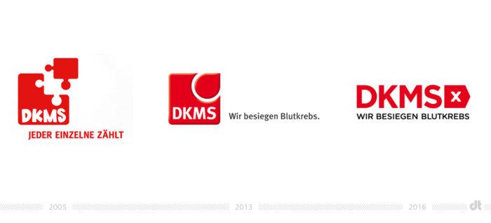 DKMS Logo – vorher und nachher