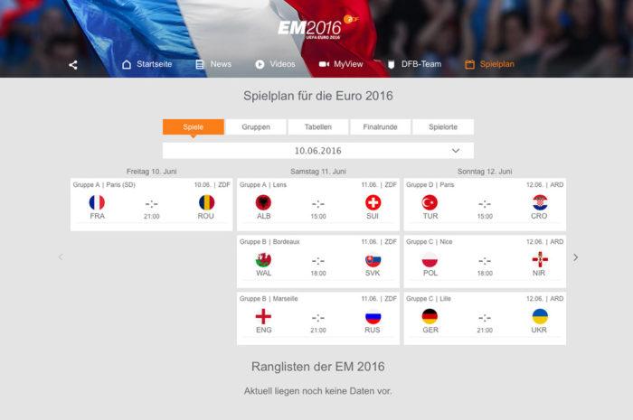 UEFA EURO 2016 ZDF