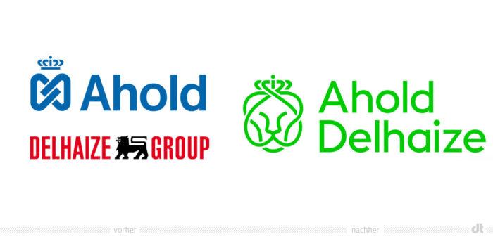 Ahold Delhaize Logos – vorher und nachher
