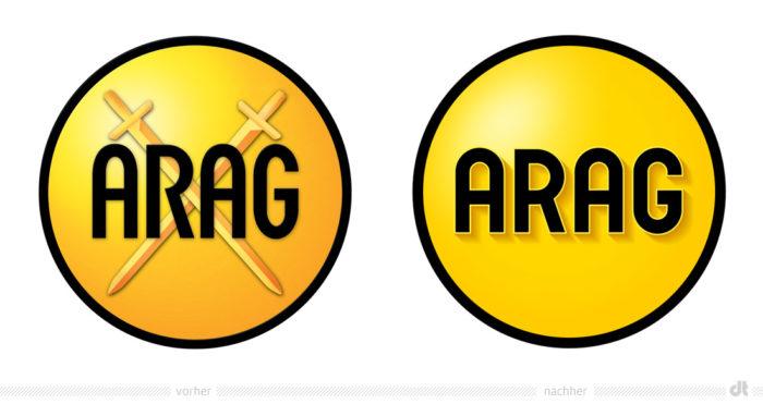 ARAG Logo – vorher und nachher