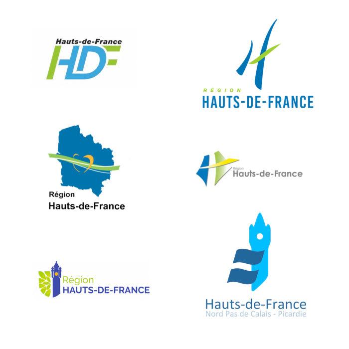 Region Hauts-de-France – weitere Logoentwürfe