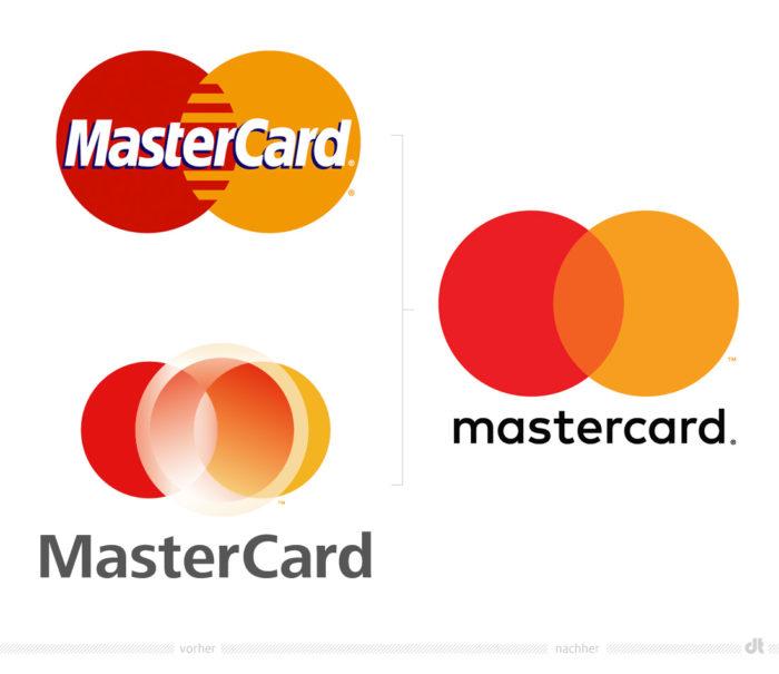 Mastercard Logo – vorher und nachher