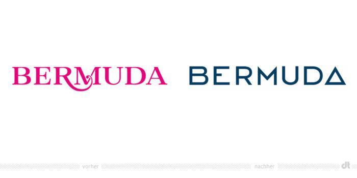 Bermuda Logo – vorher und nachher