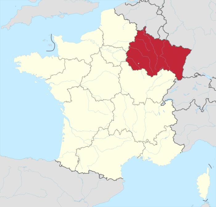 Karte Grand Est, Quelle: Wikipedia