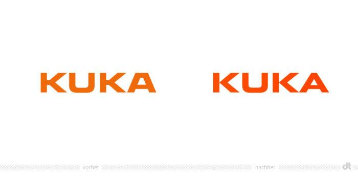 KUKA Logo – vorher und nachher