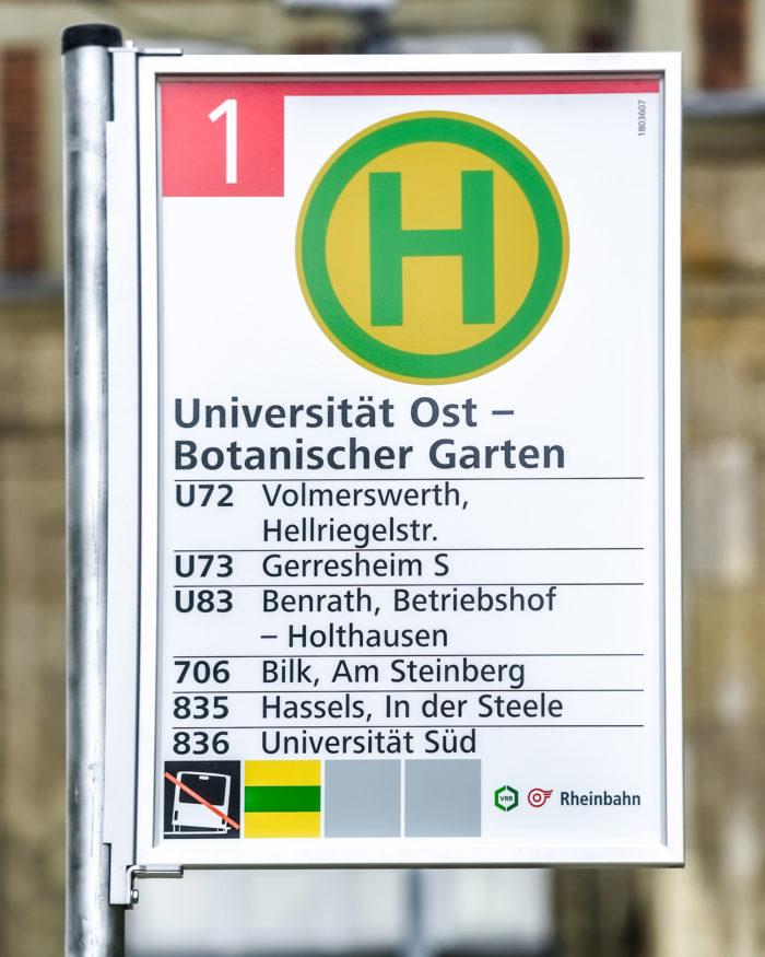 Rheinbahn Haltestellenschild Entwurf 1, Quelle: Andreas Endermann / RP ONLINE