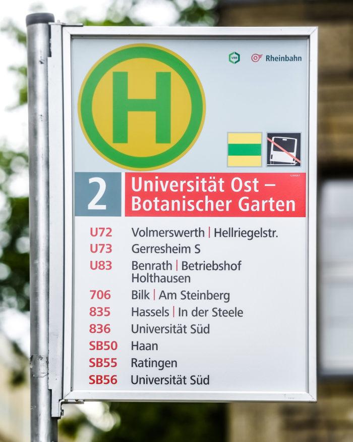 Rheinbahn Haltestellenschild Entwurf 2, Quelle: Andreas Endermann / RP ONLINE