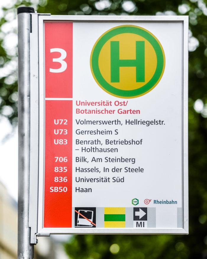 Rheinbahn Haltestellenschild Entwurf 3, Quelle: Andreas Endermann / RP ONLINE