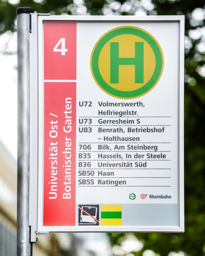 Rheinbahn Haltestellenschild Entwurf 4, Quelle: Andreas Endermann / RP ONLINE