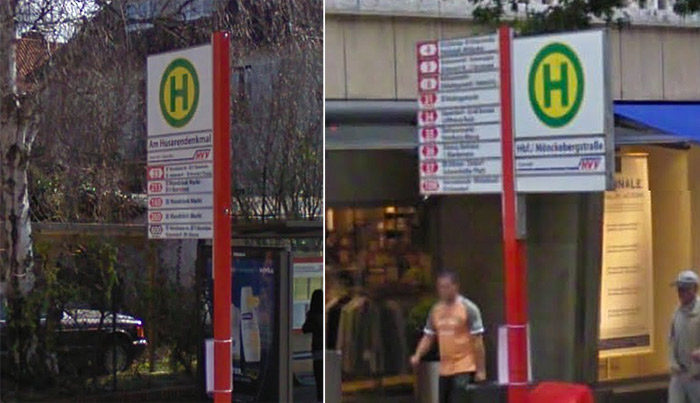 Haltestellenschilder Hamburg, Quelle: GoogleStreetview