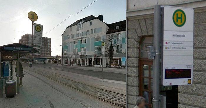 Haltestellenschilder München, Quelle: GoogleStreetview