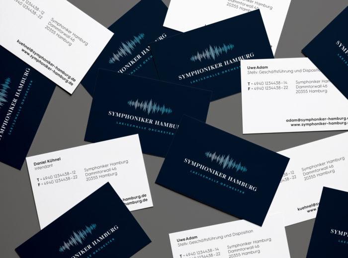 Symphoniker Hamburg Visitenkarten Design Tagebuch