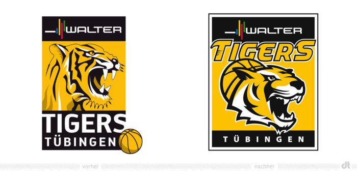 Walter Tigers Tübingen Logo – vorher und nachher
