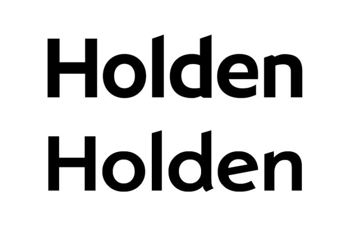 Holden Schriftzug