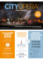 New York City Opera Broschüre
