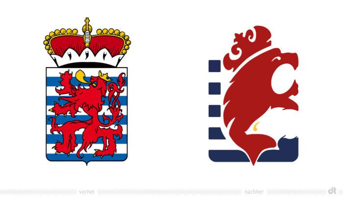 Province of Luxembourg Logo – vorher und nachher