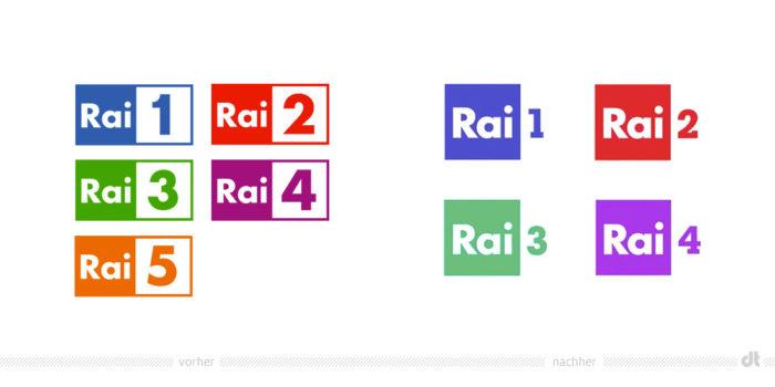 Rai Logos – vorher und nachher