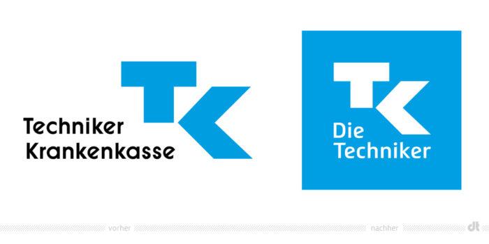 Techniker Krankenkasse Logo – vorher und nachher