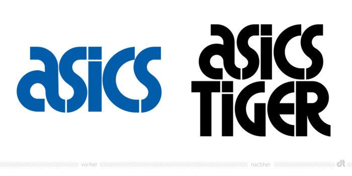 ASICS Tiger Logo – vorher und nachher