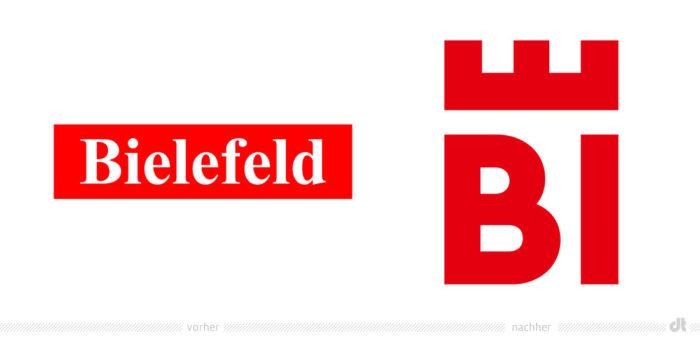 Stadt Bielefeld Logo – vorher und nachher