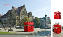 Bielefeld Stadtmarke Skulptur,