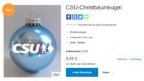 CSU Weihnachtskugel