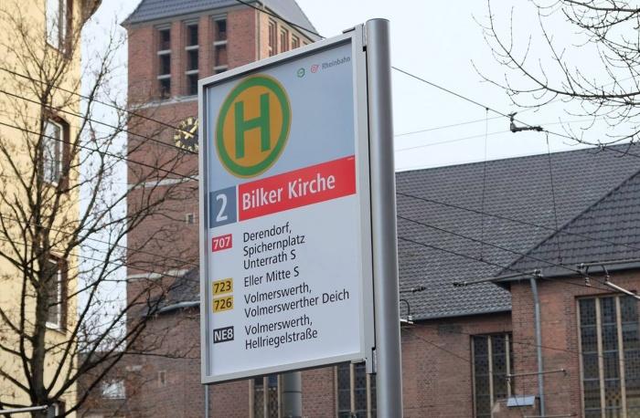 Düsseldorf Haltestellenschild (11/2016), Quelle: Rheinbahn